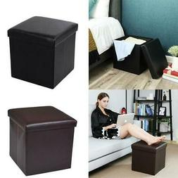 "15"" Storage Ottoman - Folding Toy Box Chest Seat Ottomans Be"
