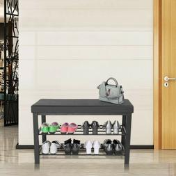 3-Tier Shoe Rack Shoe Bench For Entryway Storage Organizer W