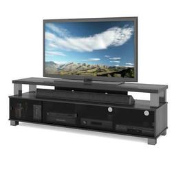 Bromley Two Tier TV Bench in Ravenwood Black, for TVs up to
