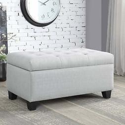 Carey Contemporary 36-inch Button Tufted Storage Bench by Be