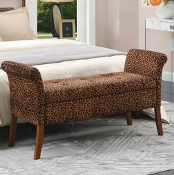 Contemporary Storage Ottoman Bench Upholstered Living Room S