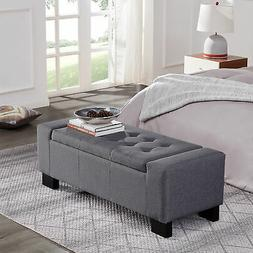 contemporary upholstered tufted fabric storage