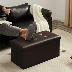 Foldable Large Storage Ottoman Bench Foot Rest Stool/Seat -