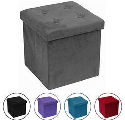 Storage Ottoman Bench, Collapsible/Folding Bench Chest with