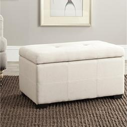 Safavieh Hudson Collection NoHo Tufted Beige Linen Small Sto
