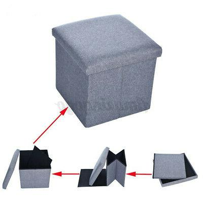 12'' Square Bench Indoor Rest Stool Folding Ottomans