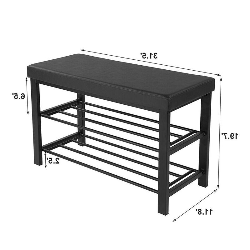 3-Tier Rack Bench For Storage Organizer With Seat