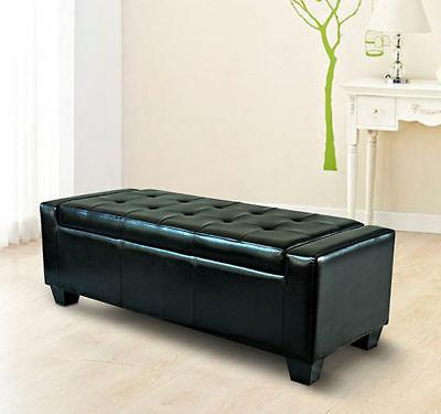 50 pu leather ottoman bed bench storage