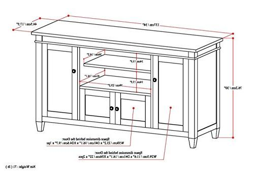 Simpli Solid TV Stand For TVs upto inches