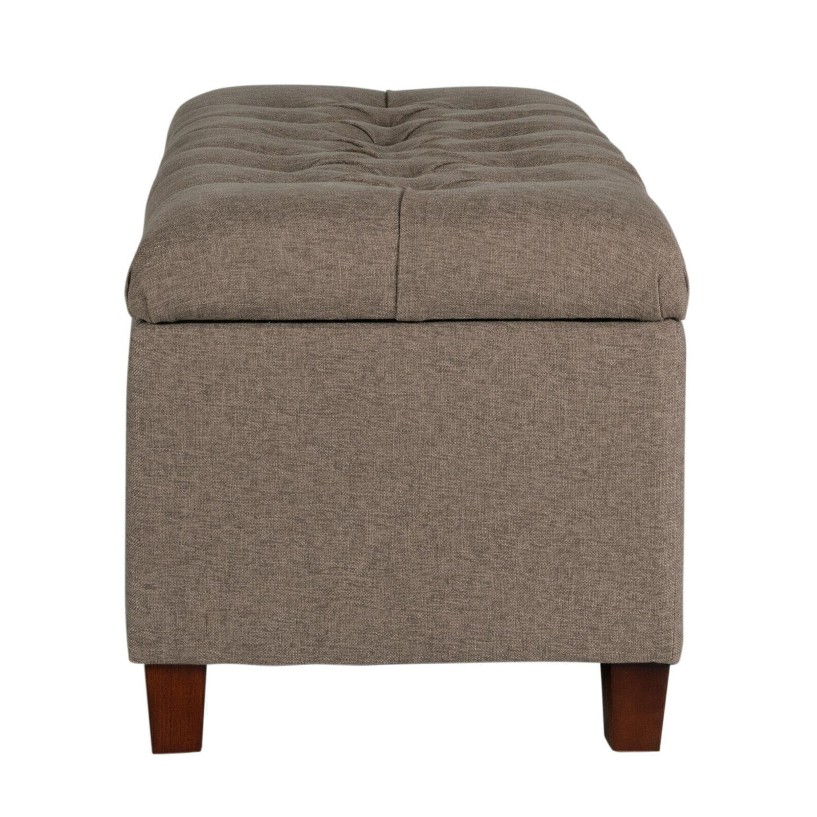 Ainsley Button Bench 18-Inch Seat w/ Textured Fabric