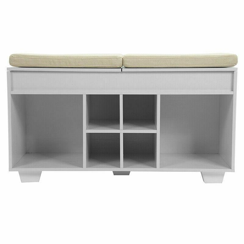 Upholstered With 6 Cubby Entryway Shoe