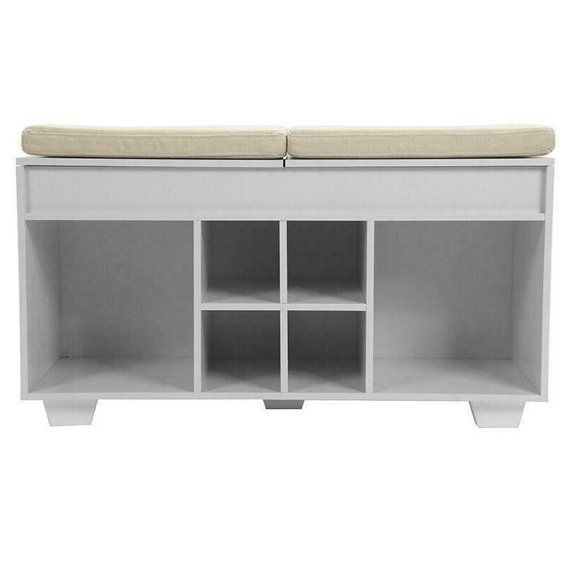 Cushioned Shoe Upholstered WIth Cubby Entryway
