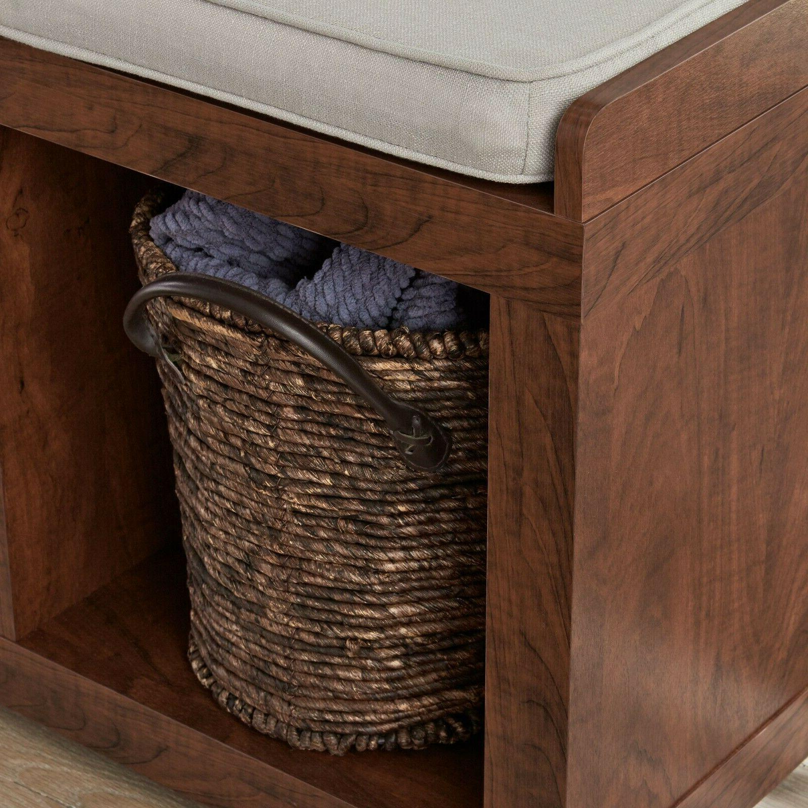 Entryway Cushion Wood Entrance Upholstered Furniture