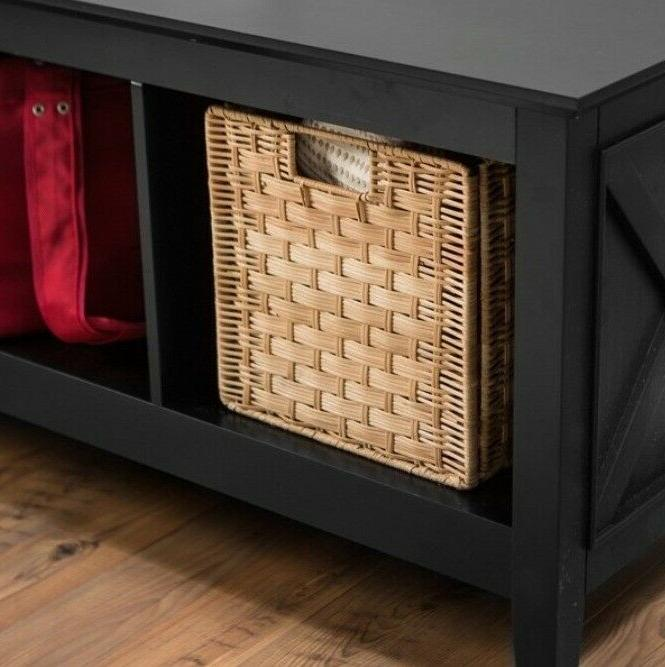 Entryway 3-Cubby Cabinet Wood Furniture