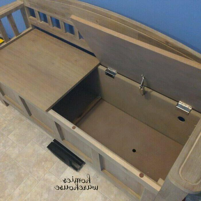 Entryway Storage Rustic Wood with French Style