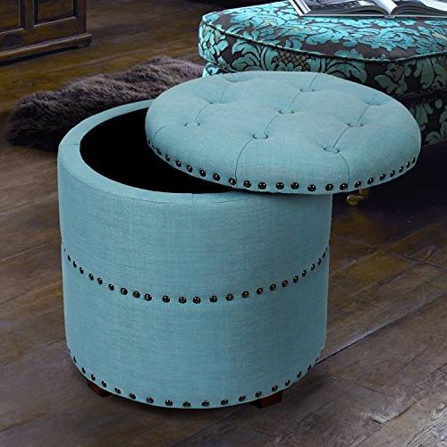 Adeco Style Fabric Bench Ottoman Chair Footstool,