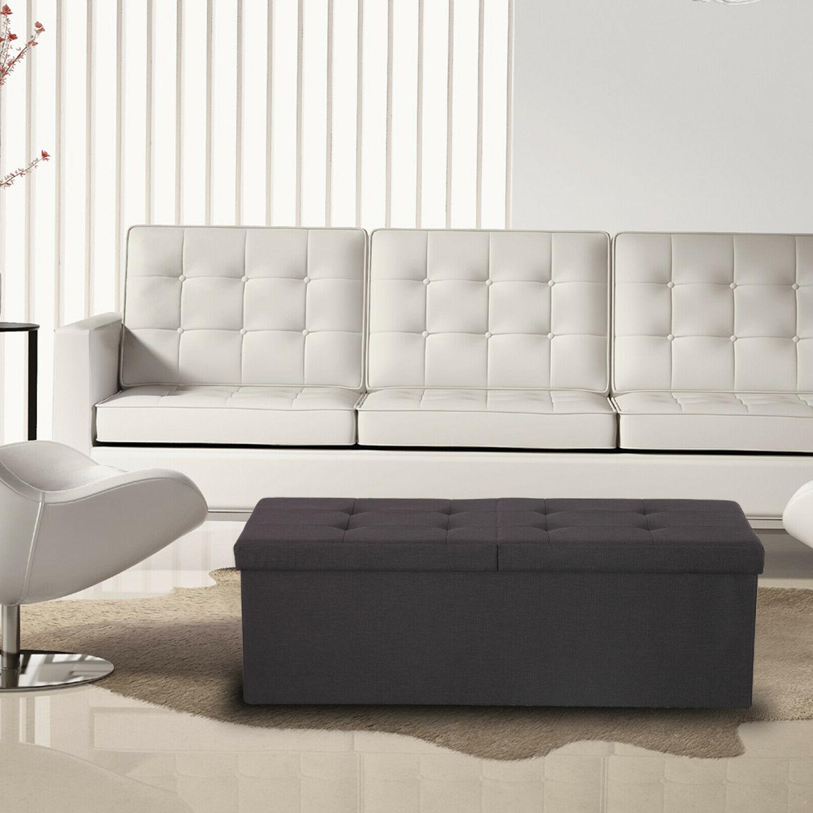 Ottoman Bench Large Chest Footrest Coffee