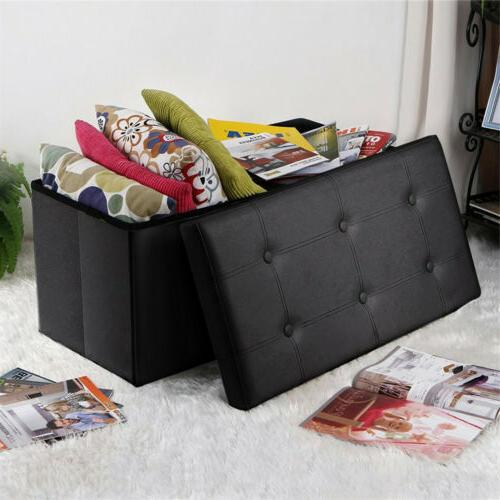 Faux Leather Footstool Sofa Footrest Box