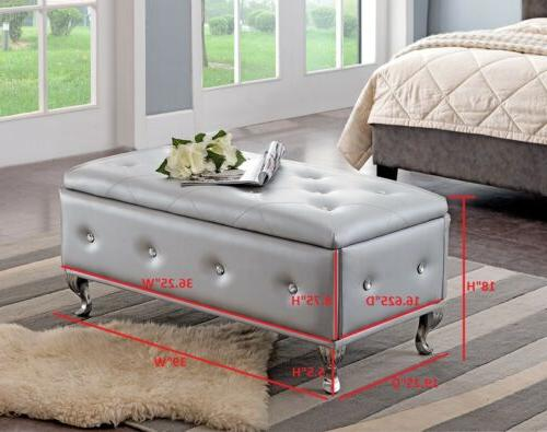 Kings Upholstered Tufted Storage Ottoman,