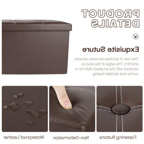 Leather Storage Seat Support