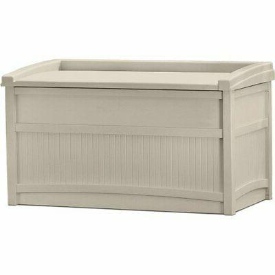 outdoor 50 gallon container resin deck storage