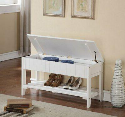 Quality Solid Bench with Storage,