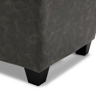 Storage Upholstered Seat Room Gray