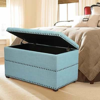 stylish button tufted lift top storage bench