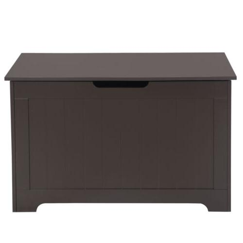 Wooden Storage Chest Bench Trunk Wooden Clothes Toy Box Hall