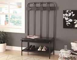 Monarch 37 in. Metal Hall Entry Bench
