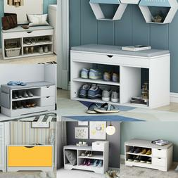 Shoe Bench Cabinet Entryway Shoes Rack Shelves Organizers Ho