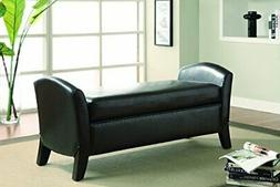 Coaster Home Furnishings Storage Bench with Curved Ends Dark