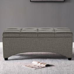 Tufted Ottoman Coffee Table Entryway End of Bed Bench Uphols