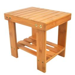 Wooden Bamboo Children Bench Safe Stool Storage Home Shoe Fi